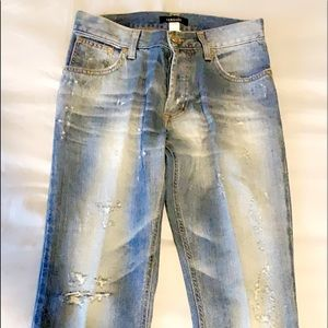 VERSACE Jeans size 32 distressed straight leg